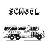 公共汽车学校 免版税库存照片