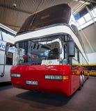 公共汽车尼奥普兰128/4 Megaliner, 1993年 库存照片