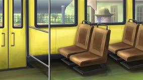 公共汽车按钮扶手栏杆内部信号终止 库存例证