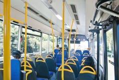 公共汽车按钮扶手栏杆内部信号终止 库存照片