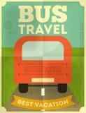 公共汽车旅行海报 库存图片