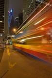 公共汽车晚上 库存照片