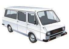 公共汽车查出微型向量 免版税库存照片
