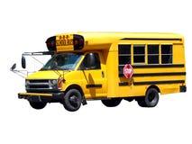 公共汽车查出的学校 库存照片