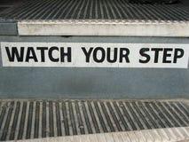 公共汽车步骤步骤注意您 免版税库存图片