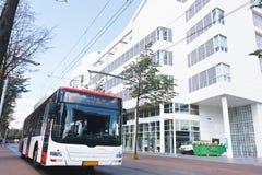 公共汽车气体液化石油白色 免版税库存图片