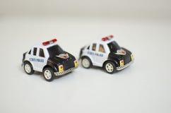 公共汽车汽车出租汽车玩具黄色 免版税库存图片
