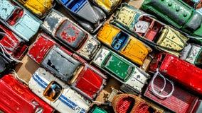 公共汽车汽车出租汽车玩具黄色 免版税库存照片