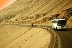 公共汽车海岸太平洋 库存照片