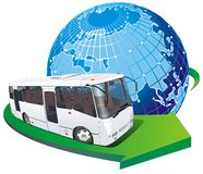 公共汽车游人向量 免版税库存图片