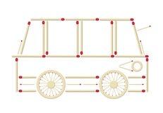 公共汽车由比赛做成 向量例证