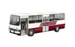 公共汽车的例证有红线的在边 库存图片