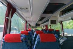 公共汽车的内部 库存图片