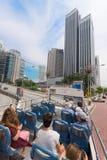 公共汽车的游人有露天甲板的,吉隆坡,马来西亚 免版税库存图片