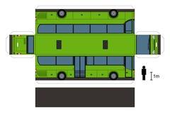 公共汽车的纸模型 免版税库存图片