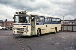 公共汽车的葡萄酒图象在爱丁堡 库存图片