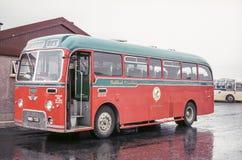 公共汽车的葡萄酒图象 库存照片