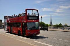 公共汽车看到视域浏览的巴黎 库存照片