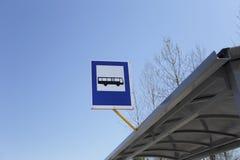 公共汽车站交通标志 库存图片