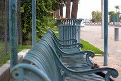 公共汽车站在坎顿加州 免版税库存图片