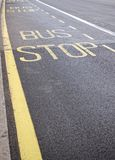 公共汽车站符号 库存图片