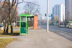 公共汽车站 图库摄影