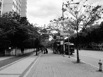 公共汽车站 免版税库存图片