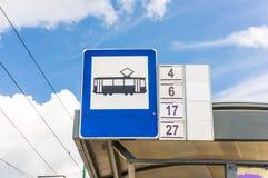 公共汽车站 库存照片