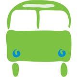 公共汽车符号 库存例证
