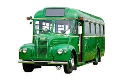 公共汽车绿色老 库存图片