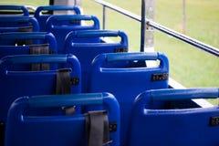 公共汽车蓝色位子 库存图片