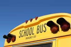 公共汽车详细资料学校 库存照片