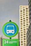 公共汽车迈阿密符号终止 免版税库存照片