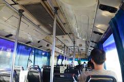 公共汽车运输的人们在泰国 免版税库存图片