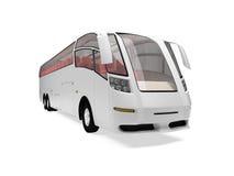 公共汽车远期查出的视图 库存例证