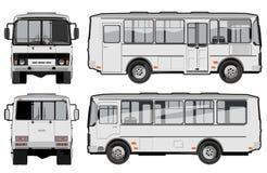 公共汽车都市城市的乘客 免版税库存图片