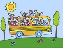 公共汽车配置文件阳光 库存图片