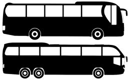 公共汽车集合向量 免版税库存图片