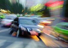 公共汽车高光芒四射的光芒速度 免版税库存照片