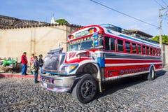 公共汽车鸡危地马拉人 免版税图库摄影