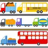 公共汽车,卡车通信工具/运费运输 库存例证