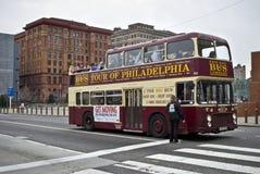 公共汽车费城浏览 库存照片