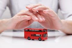 公共汽车(概念)的保护 免版税库存照片
