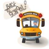 公共汽车滑稽的学校 免版税库存照片