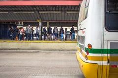 公共汽车总站 库存图片