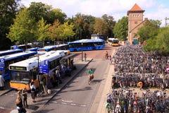 公共汽车deventer荷兰岗位 库存照片