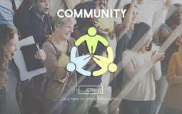 公共社会团体网络社会概念 免版税库存照片