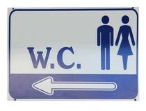 公共符号洗手间wc 免版税库存照片