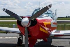公共连络或训练单翼飞机比雅久P 149D 免版税库存图片
