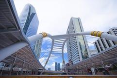 公共skywalk在曼谷 免版税库存照片